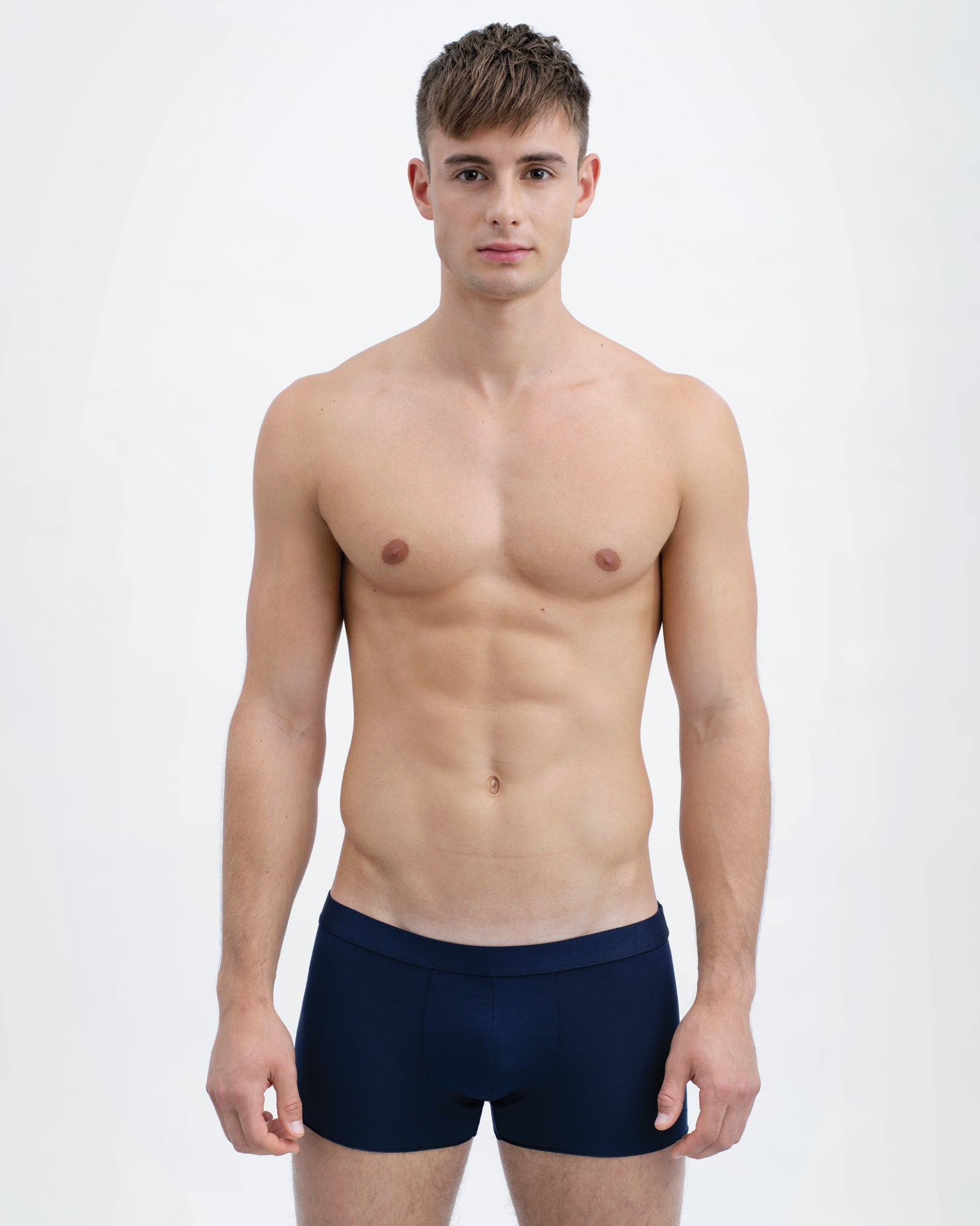 Men Tencel Micromodal Boxer Brief Navy Blue Featured