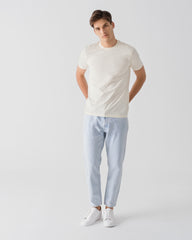 Men Organic Cotton Crew Neck Off-White