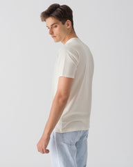 Men Organic Cotton Crew Neck Off-White Featured