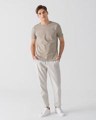 Men Organic Cotton Crew Neck T-shirt Taupe