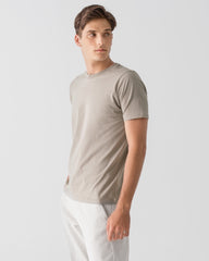 Men Organic Cotton Crew Neck T-shirt Taupe Featured