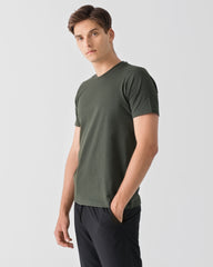 Men Organic Cotton Crew Neck Thyme Green Featured