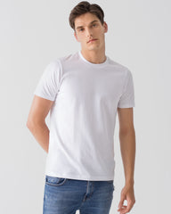 Men Organic Cotton Crew Neck White Featured