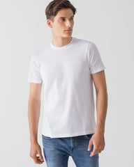 Men Organic Cotton Crew Neck T-shirt White Featured