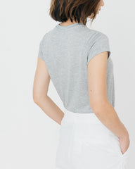 Women Tencel Lyocell Cap Sleeve T-Shirt Grey