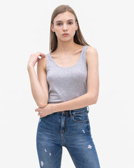 Women Tencel Lyocell Relaxed Tank Grey Featured