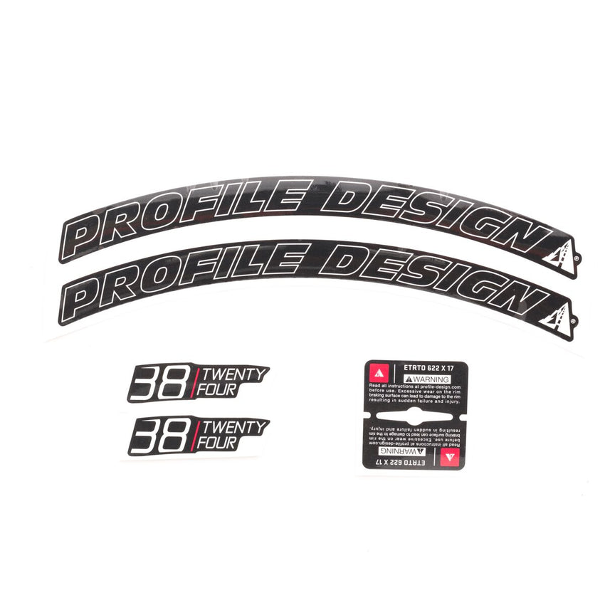 38/TwentyFour Series Wheel Decal