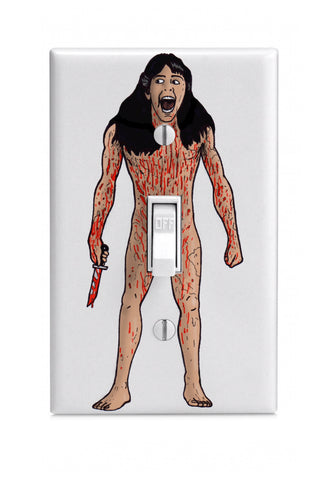 """Sleepaway"" Light Switch Wall Plate"