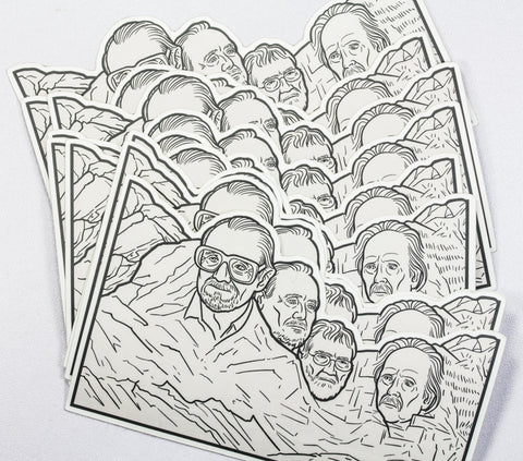 "'Mount Slashmore"" Souvenir Sticker"