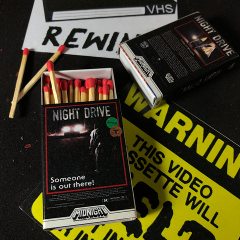 """NIGHT DRIVE"" VHS Matchbook"