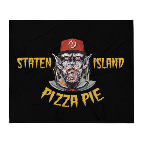 Staten Island Pizza Pie Souvenir Throw Blanket