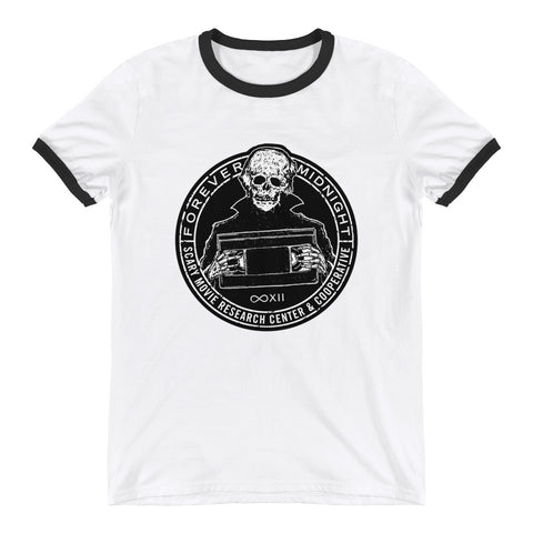 """Scary Movie Research Center"" Ringer Shirt"