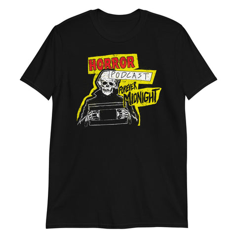 """Horror Podcast"" Unisex T-Shirt Black"