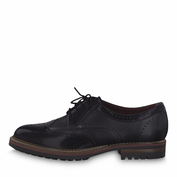 TARA Black Brogue by Tamaris