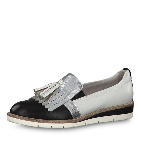 Clare Silver Loafer by Tamaris