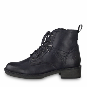 'STAN' Navy Lace-up Boot By Tamaris