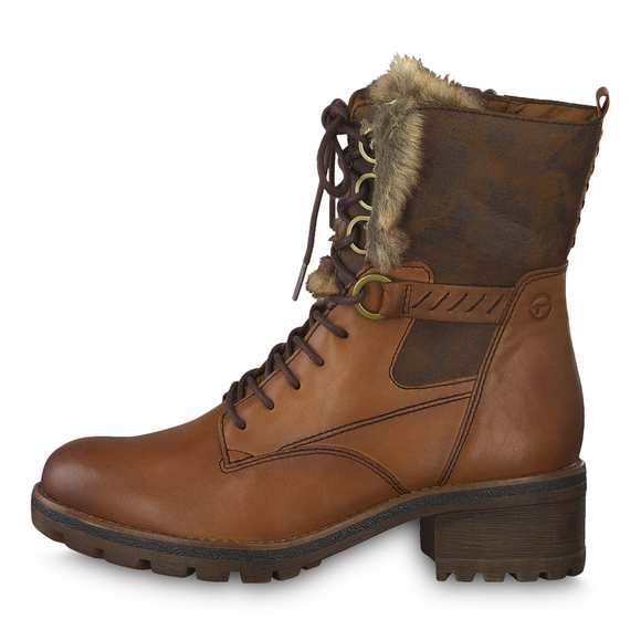 'LILIAS' Nut Brown Short Boot by Tamaris