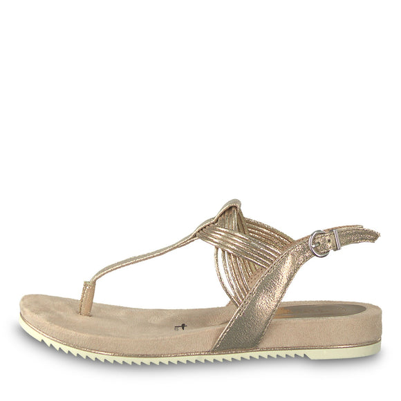 Luna Rose Metallic Sandal by Tamaris