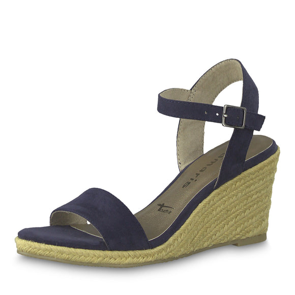 Bunty Wedge Sandal in Navy by Tamaris