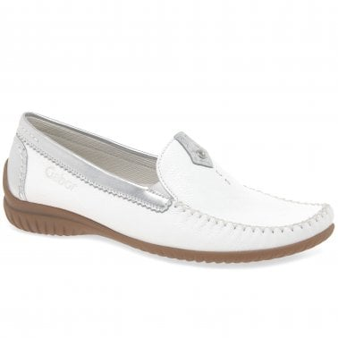 CALIFORNIA Loafer in White/Silver by Gabor