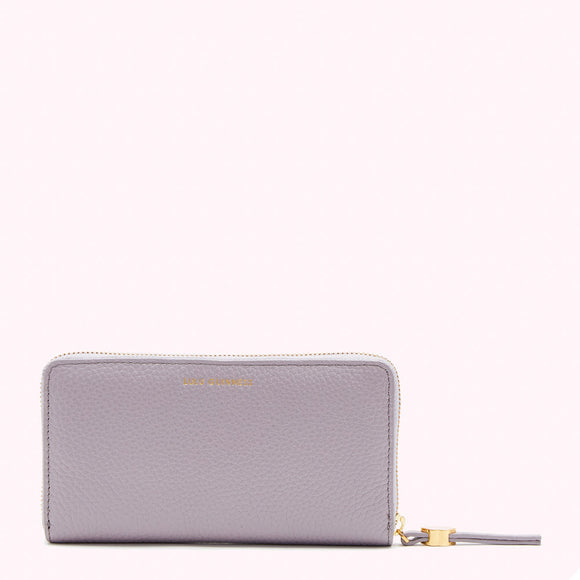 Lavender Grey Continental Wallet by Lulu Guinness