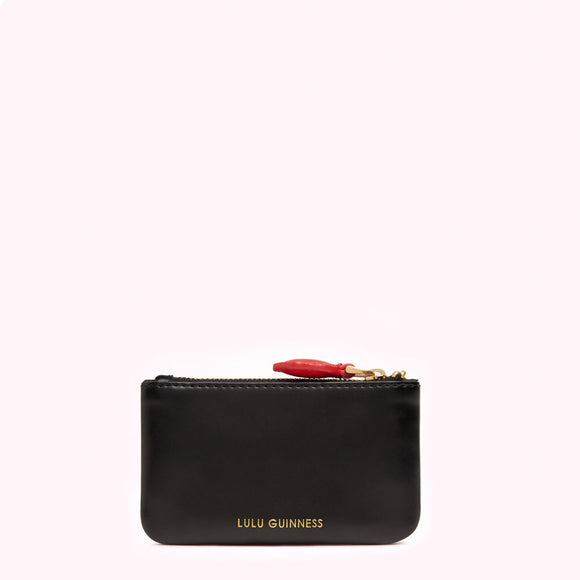 Cupids Bow Frankie Key Pouch Split Leather by Lulu Guinness