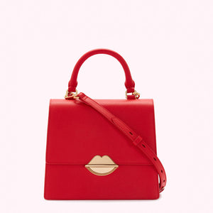 Scarlet Lip Push Lock Medium Patty by Lulu Guinness
