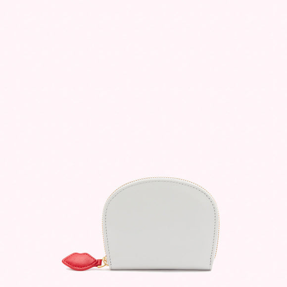 Oyster Smooth Leather Purse by Lulu Guinness