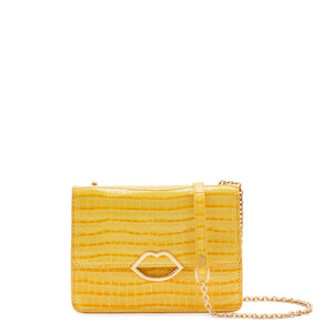 Cut Out Lip Croc Polly in Dandelion (M) by Lulu Guinness