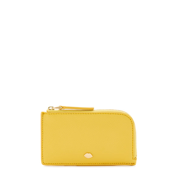 Lip Pin Leah Wallet in Dandelion by Lulu Guinness