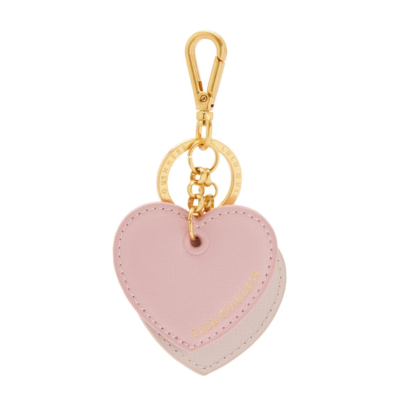 Double Heart Keyring in Blossom by Lulu Guinness