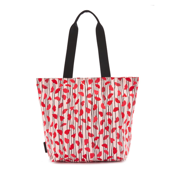 Lips & Heart Stripe Bea Tote by Lulu Guinness