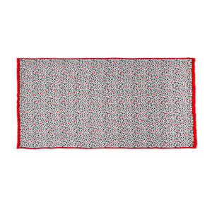 Cut Out Hearts Pashmina in Pale grey/multi by Lulu Guinness