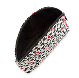 Cut Out Hearts Crescent Pouch by Lulu Guinness