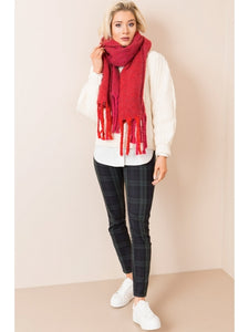 Bryony Scarf in Red by Pia Rossini