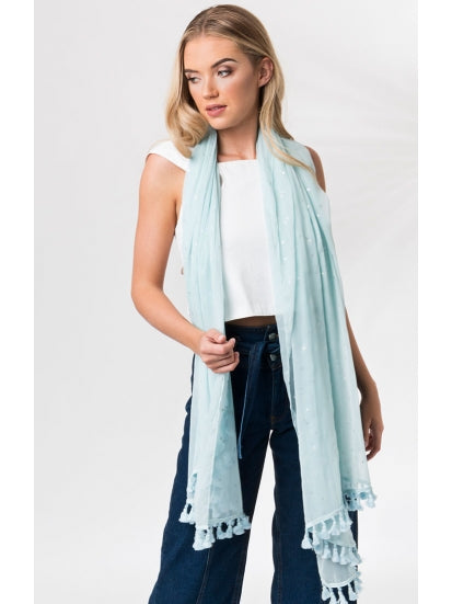 Emery Scarf in Blue by Pia Rossini