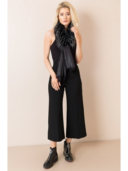 Genevieve Scarf in Black by Pia Rossini