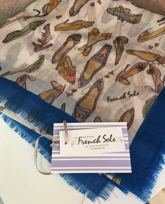 Signature Shoe Blue Scarf by French Sole