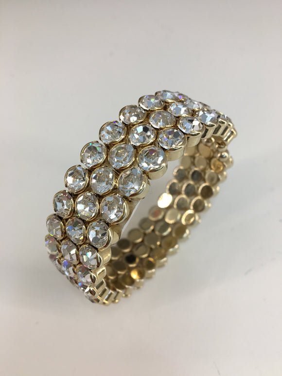 3 Row Crystal Bangle