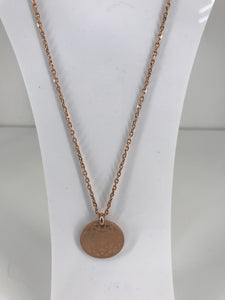 Rose Gold Star Circle Necklace