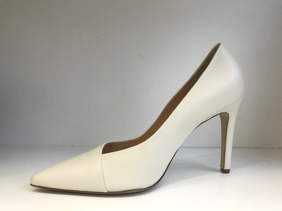 FAY Ivory Leather High Pump