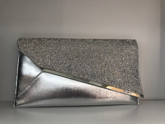 Silver Rectangular Clutch