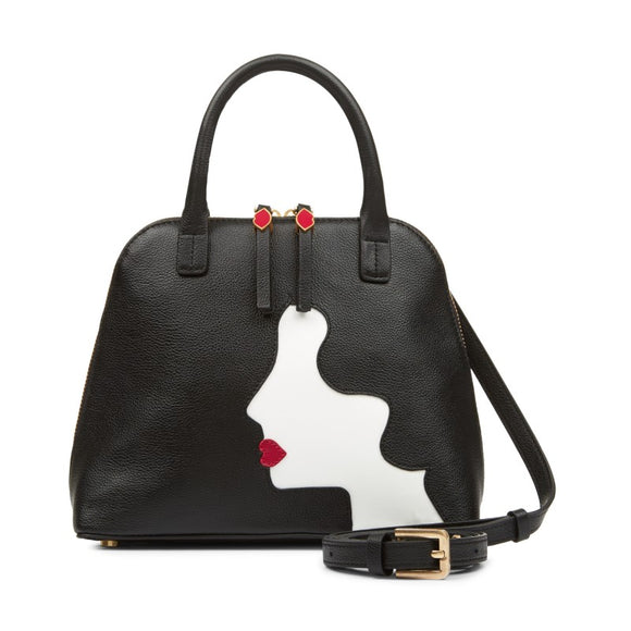 Kissing Cameo Small Bobbi in Black By Lulu Guinness