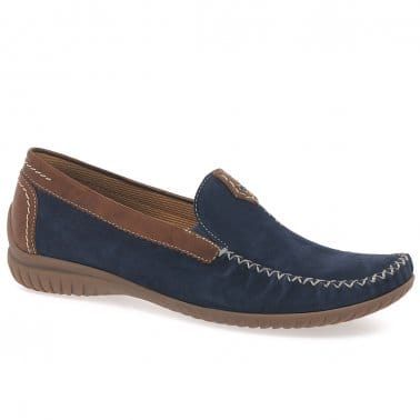 CALIFORNIA Loafer in Navy/Tan by Gabor