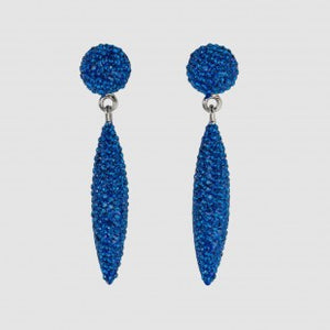Pave Cone drop earrings Blue by Butler & WIlson