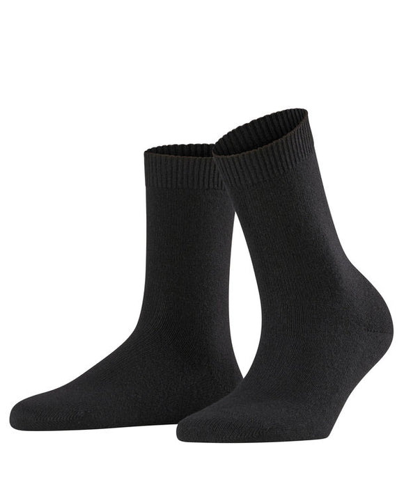 Falke Soft Merino ANkle Socks Black