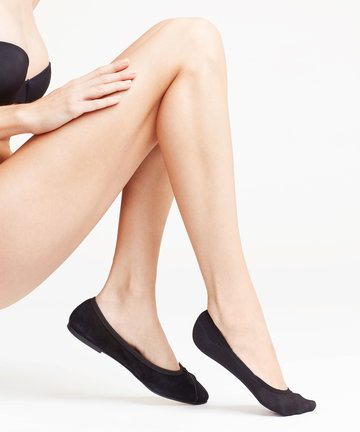 Falke Black Cotton Step Socks Black