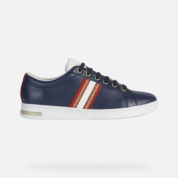 SS20 Jaysen Navy/Red/Gold Sneakers By Geox