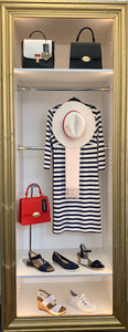 Navy/White Striped Dress by Yest