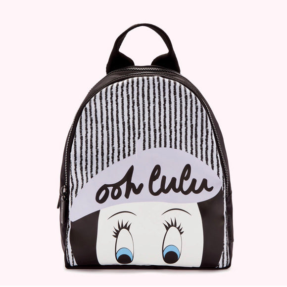Ooh Lulu Backpack in Oyster/Black by Lulu Guinness